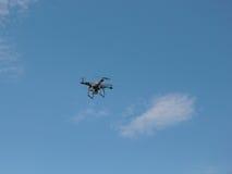 在飞行中摄象机。 库存图片