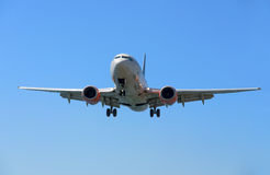 在飞行中Airpane 图库摄影