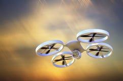 在飞行中UAV寄生虫 免版税库存图片