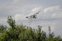 在飞行中XH558 Avro沃尔坎火山轰炸机 免版税库存图片
