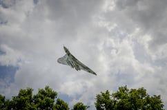 在飞行中XH558 Avro沃尔坎火山轰炸机 库存照片