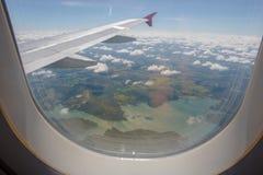 在飞行期间的湖 库存图片