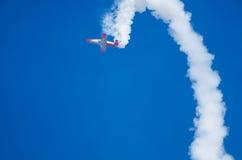 在飞行表演的飞行动力学的摊位 图库摄影