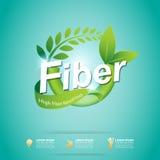 在食物的纤维减肥形状和维生素概念标签传染媒介 免版税库存图片