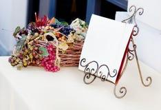 在餐馆的空白菜单 库存图片