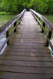 在饥饿的Mother湖,马里,弗吉尼亚,美国的桥梁 图库摄影