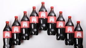 在饮料瓶的共和党大象 库存照片