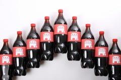 在饮料瓶的共和党大象 免版税库存照片