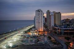在首都哈瓦那,古巴的日落 图库摄影