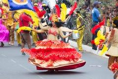 在首都在佛得角,普腊亚的每年狂欢节 免版税库存图片