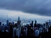 在香港上面  免版税库存照片