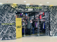 在香港两面停放商店 库存图片