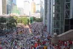 在香港反占领运动集会 免版税库存图片