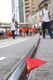 在香港反占领运动集会 库存图片
