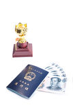 在香港和澳门通行证之间 库存图片