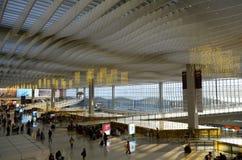 在香港国际机场的入口 库存图片