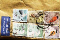 在香港打印的邮票 免版税库存图片