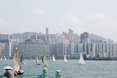 在香港港口的赛船会  免版税库存照片