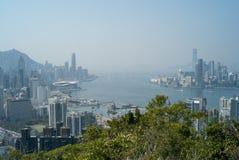 在香港的一个看法 免版税库存图片