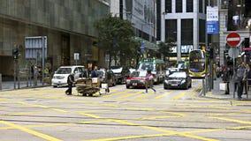在香港街道  库存照片