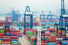 在香港靠码头海口 免版税库存照片