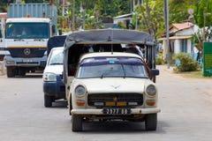 在香的街道交通在马达加斯加 免版税图库摄影