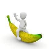 在香蕉的乘驾 库存图片