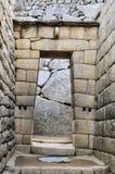 在马丘比丘的印加人门,印加人神圣的城市,秘鲁 库存照片