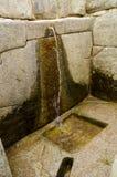 在马丘比丘的礼节喷泉 库存图片