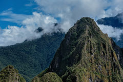 在马丘比丘附近的山安地斯,秘鲁 免版税图库摄影