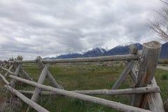 在马偕附近的栅栏,爱达荷 免版税图库摄影