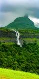 在马哈拉施特拉,印度的瀑布 图库摄影