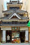 在马塔莫罗斯市的一个书店在日本 免版税库存图片