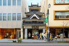 在马塔莫罗斯市的一个书店在日本 库存图片