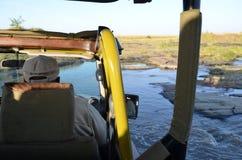 在马塞语玛拉-肯尼亚的野生生物徒步旅行队 免版税库存图片