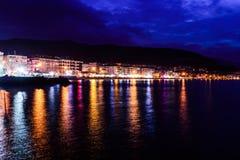 在马尔马拉海的海边镇 图库摄影