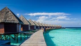 在马尔代夫的愉快的天 免版税图库摄影