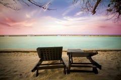 在马尔代夫的日出 库存图片