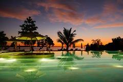 在马尔代夫的水池 免版税库存图片