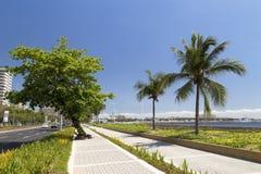 在马尼拉海湾堤防的看法 库存照片