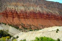 在马尼拉犹他附近的红色峭壁 库存照片