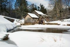 在马布里磨房的冬天 免版税图库摄影