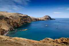 在马德拉岛海岛东边 库存照片
