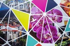 在马德拉岛葡萄牙的海岛上的建筑工地囤积居奇 免版税图库摄影