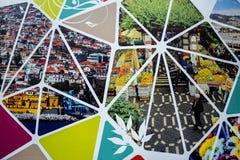在马德拉岛葡萄牙的海岛上的建筑工地囤积居奇 免版税库存图片