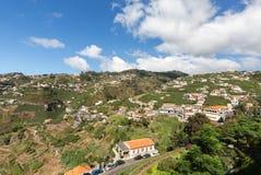 在马德拉岛Wine Company, Estreito de Camara de罗伯斯,马德拉岛的葡萄园的看法, 库存照片