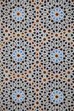 在马德拉斯Bou Inania,菲斯,摩洛哥的马赛克 图库摄影