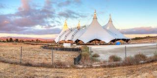 在马戏场帐篷的日落 图库摄影