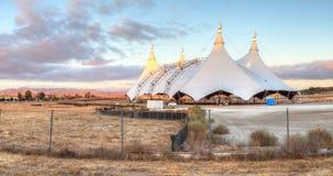 在马戏场帐篷的日落 库存照片
