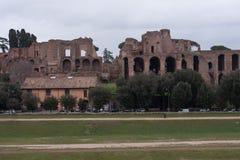 在马戏maximus,罗马的废墟 免版税库存照片